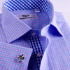 B2B Shirts - Best Seller Check With Money Inner Lining Professional Dress Shirt in Double Cuff in Size 42 - Business to Business