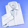 B2B Shirts - New Arrival Light Green Check Dress Shirt Formal Business Mens Stylish Top Smart - Business to Business