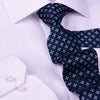 "B2B Shirts - Dark Blue & Silver Italian Inspiring 3"" Necktie Business Elegance Smart Ego Man - Business to Business"