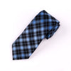 "B2B Shirts - Blue London Novelty 3"" Necktie Business Formal Elegance Check Tie On Regent Street - Business to Business"