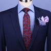 "B2B Shirts - Burgundy & Blue Floral  3"" Necktie Business Elegance Italian Traditional Style - Business to Business"