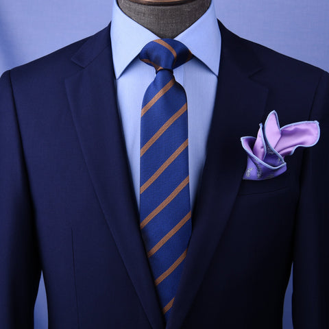 "B2B Shirts - Navy Blue Stripe 3"" Necktie Business Elegance  For Professional Formal Ego - Business to Business"