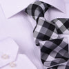"B2B Shirts - Black & Gray UK Style Check 3"" Necktie Business Elegance  For Formal Business Occasion - Business to Business"