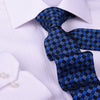 "B2B Shirts - Blue Italian  Geometric 3"" Necktie Business Elegance Formal Business Occasion - Business to Business"