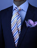 "B2B Shirts - Blue, Golden & White 3"" Necktie Business Formal Elegance for Smart Men's Ego - Business to Business"