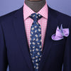 "B2B Shirts - Blue Maple Unique Stylish 3"" Necktie Business Formal Elegance Smart Men's Ego - Business to Business"