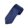 B2B Shirts - Blue Check Italian Pattern Necktie Business Formal Elegance For Smart Men's Ego - Business to Business