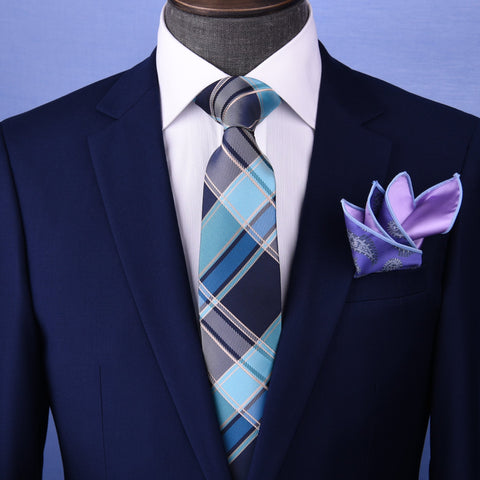 "B2B Shirts - Blue&Black UK Stylish 3"" Necktie Business Formal Elegance For Smart Men's Ego - Business to Business"