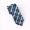 "B2B Shirts - Green UK Style Check 3"" Necktie Business Elegance  For Formal Business Occasion - Business to Business"