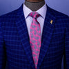 "B2B Shirts - Pink Paisley Wedding Designer Unique Business 3.15"" Tie Celebration Fashion - Business to Business"