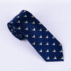 B2B Shirts - Blue Wall Street Golden Bull Head Designer Tie 8cm Necktie Florentine Accessory - Business to Business