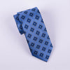 B2B Shirts - Mens Classic Blue Check Tie Regular Standard 8cm Necktie Designer Diamond Pindot - Business to Business