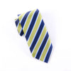 B2B Shirts - Green & Navy Boss Formal Business Striped 3 Inch Tie Mens Professional Fashion - Business to Business