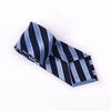 B2B Shirts - Blue & Navy Boss Formal Business Striped 3 Inch Tie Mens Professional Fashion - Business to Business
