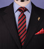 B2B Shirts - Red & Black Boss Formal Business Striped 3 Inch Tie Mens Professional Fashion - Business to Business