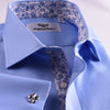 B2B Shirts - Classic New Arrival Blue Twill Professional Dress Shirt in Double French Cuff in All Sizes - Business to Business