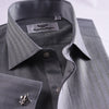 B2B Shirts - New Arrival Unique Designed Grey Herringbone Formal Business Dress Shirt Stylish Luxury Fashion Apparel in French Cuffss - Business to Business