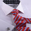 B2B Shirts - White Herringbone Twill Formal Business Dress Shirt Black Fleur-De-Lis Fashion - Business to Business