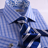 B2B Shirts - Big Paisley Designer Striped Checks Floral Formal Business Dress Shirt Double Cuffs - Business to Business