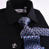 B2B Shirts - Black Poplin Formal Business Dress Shirt Sexy Smooth Luxury Finish - Business to Business