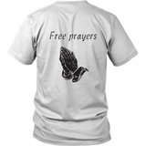Metalhead front and Free Prayers back Tee