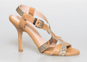 Size 5 - Cross in Beige with Snake - Souple