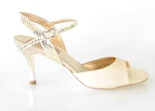Size 7 - Nizza in Cream Leather with Gold - Regina