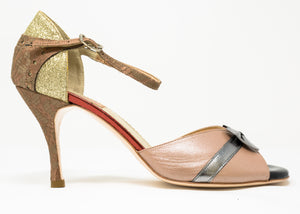 Size 9 - Maharaj in Nude Leather with Lace and Bow - Regina