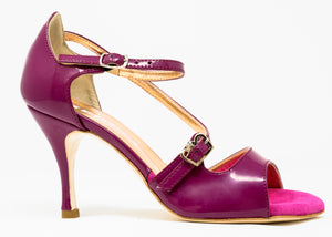 Size 8 - Venere in Mulberry Purple Patent Leather - Regina