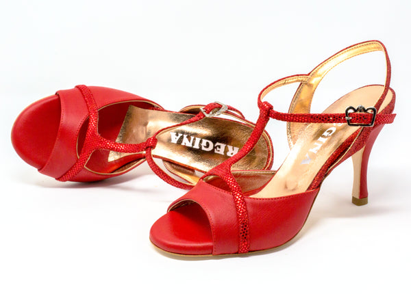 Size 8 - Kyoto in Red Leather - Regina