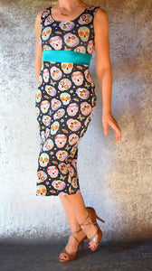 Sugar Skulls Wiggle Dress - Choose Your Size