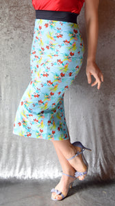 Tropical Mini Mouse Skirt with Back Slit - Choose Your Size