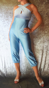 Cross-Over Top Open Back Jumpsuit - Choose Your Dress Size and Color
