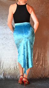 Crushed Velvet Fishtail Skirt - Choose Your Size and Color