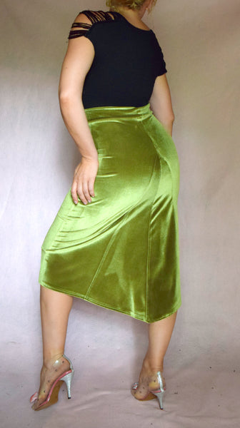 Velvet Godet Back Skirt - Choose Your Size and Color