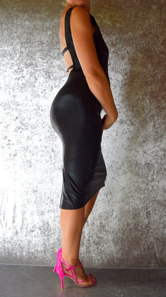 Black Mystique Ultra Low Back Dress - Choose Your Size