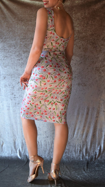 Juicy Cherries Knee-Length Dress - Choose Your Size