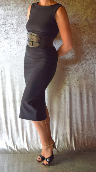 Little Black Wiggle Dress - Choose Your Size