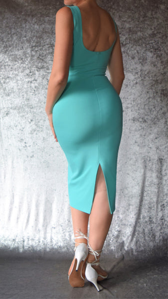 Ponte De Roma High Neckline Wiggle Dress - Choose Your Size and Color