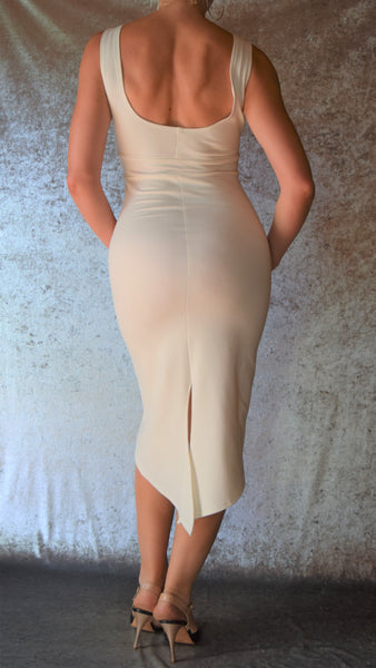 Ponte De Roma High Neckline Fishtail Back Dress - Choose Your Size and Color