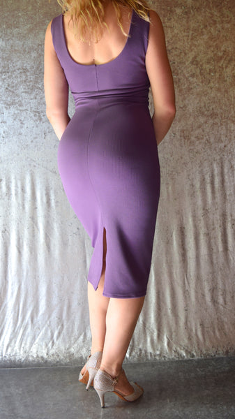 Solid Color Pique High Neckline Wiggle Dress - Choose Your Size and Color