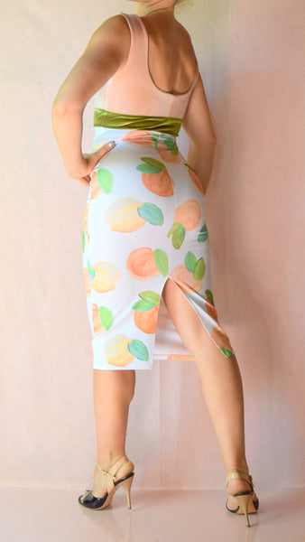 Peaches and Cream Scoop Neck Wiggle Dress - Choose Your Size
