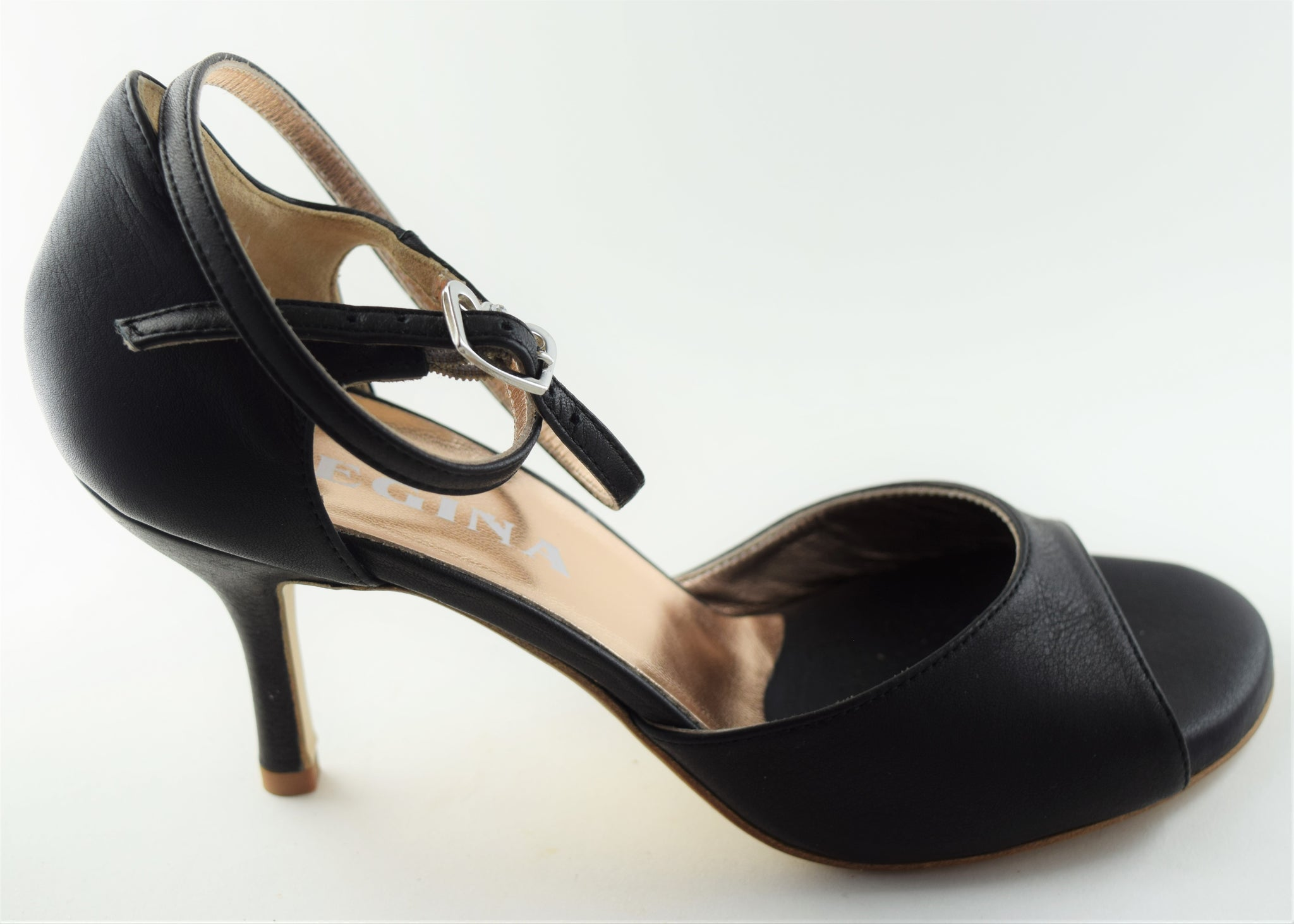 Size 8- California in Black Leather - Regina