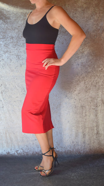 Pencil Skirt with Back Slit - Choose Your Color and Size