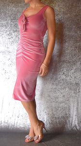 Ruched Velvet Dress - Choose Your Size and Color