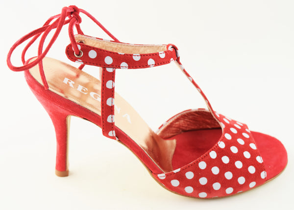Size 6 - Amelia Slim Star in Red and White Polka Dots - Regina
