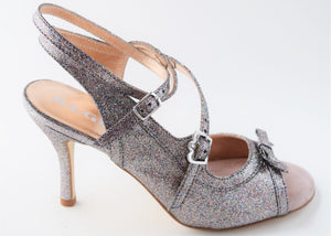 Size 5 - Pigalle in Multicolor Pewter Glitter - Regina