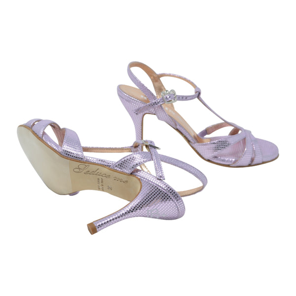 Size 6 - Olivia in Shimmery Metallic Lilac Leather - Regina