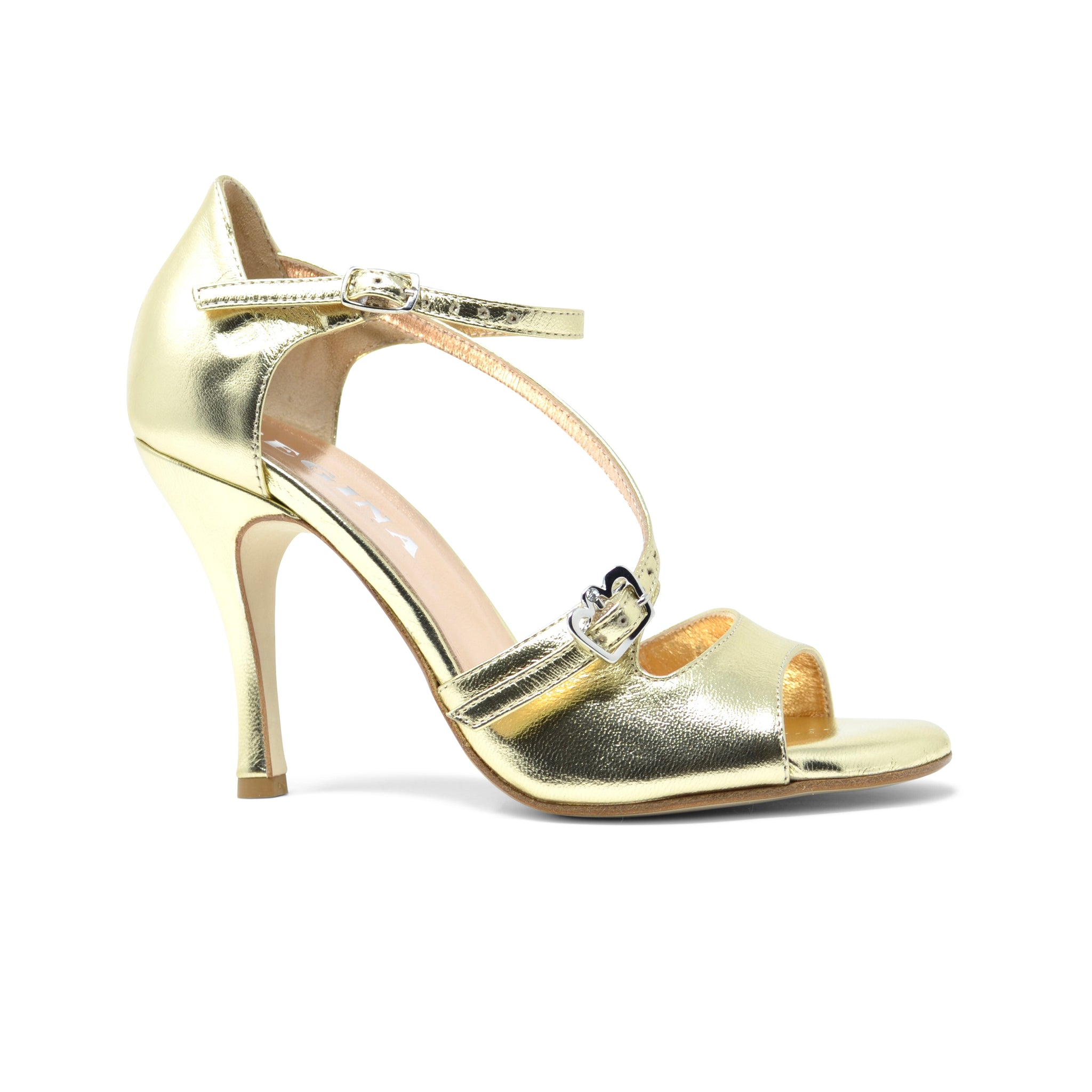 Size 5 - Venere in Metallic Gold Leather - Regina