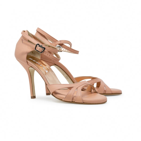 Size 8 - Eva3 Twins in Dusty Rose Leather - Regina